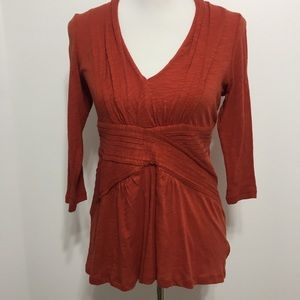 NWT Anthro Deletta Cross Front Top